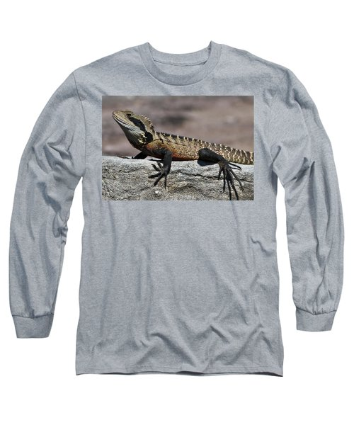 Long Sleeve T-Shirt featuring the photograph Profile Of A Waterdragon by Miroslava Jurcik