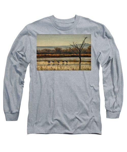 Promenade Of The Cranes Long Sleeve T-Shirt