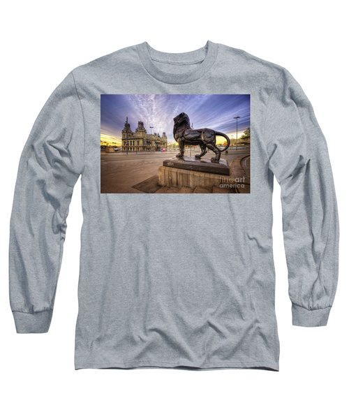 Puerto De Barcelona Sunrise Long Sleeve T-Shirt
