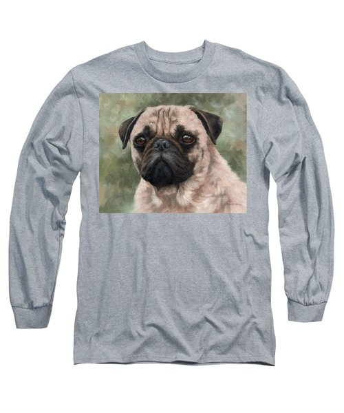 Pug Portrait Painting Long Sleeve T-Shirt