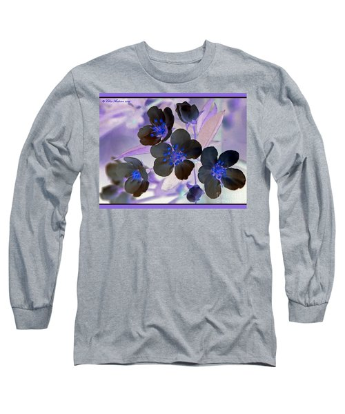 Purple Blue And Gray Long Sleeve T-Shirt by Chris Anderson