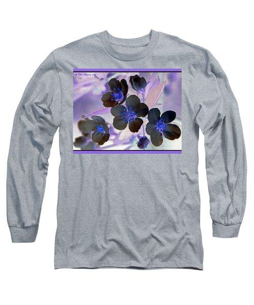 Purple Blue And Gray Long Sleeve T-Shirt