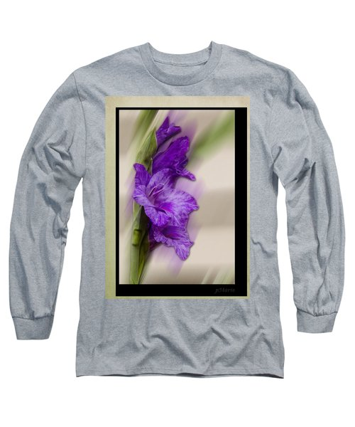 Purple Gladiolus Bloom Long Sleeve T-Shirt