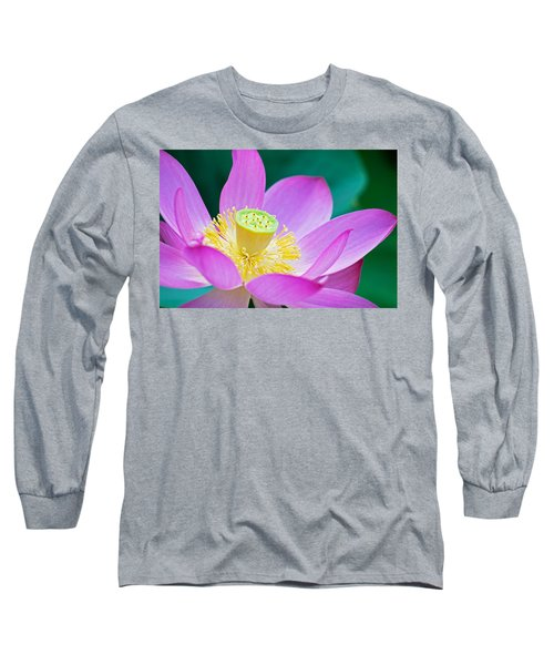 Purple Lotus Blossom Long Sleeve T-Shirt