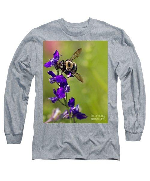 Purple Majesty Long Sleeve T-Shirt by Erika Weber