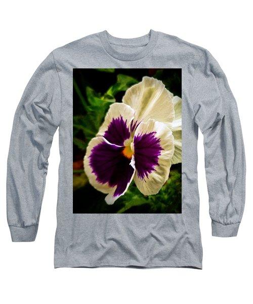 Purple Pansy Long Sleeve T-Shirt