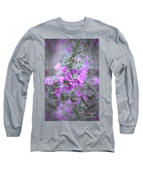 Purple Sage Long Sleeve T-Shirt by Deb Halloran