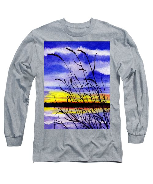 Purple Sunset Long Sleeve T-Shirt