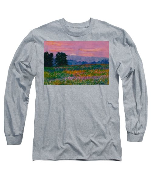 Purple Sunset On The Blue Ridge Long Sleeve T-Shirt