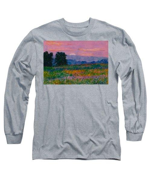 Purple Sunset On The Blue Ridge Long Sleeve T-Shirt by Kendall Kessler
