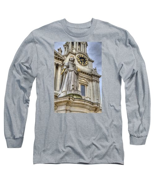 Long Sleeve T-Shirt featuring the photograph Queen Anne Statue by Tim Stanley
