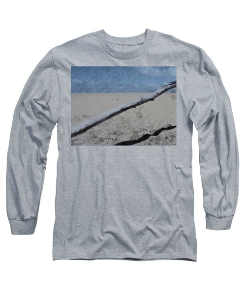 Quiet Beach Long Sleeve T-Shirt by Photographic Arts And Design Studio