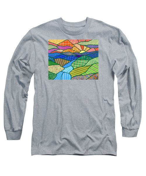 Quilted Appalachian Sunset Long Sleeve T-Shirt by Jim Harris