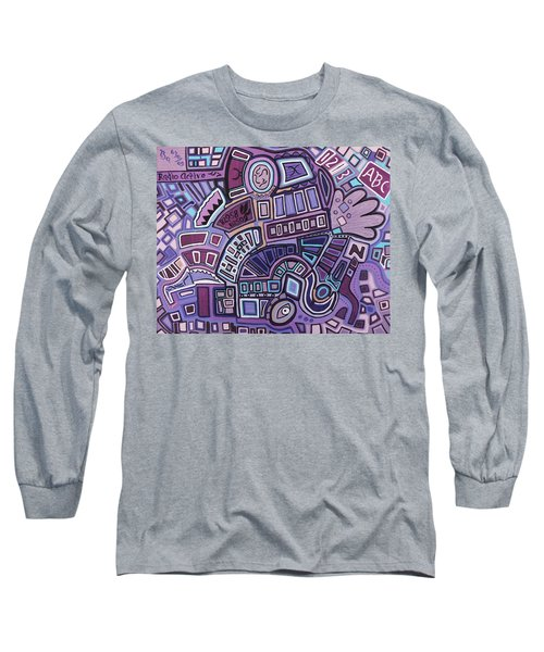 Long Sleeve T-Shirt featuring the painting Radio Active by Barbara St Jean