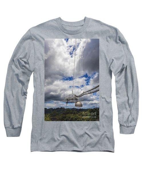 Radio Telescope At Arecibo Observatory In Puerto Rico Long Sleeve T-Shirt
