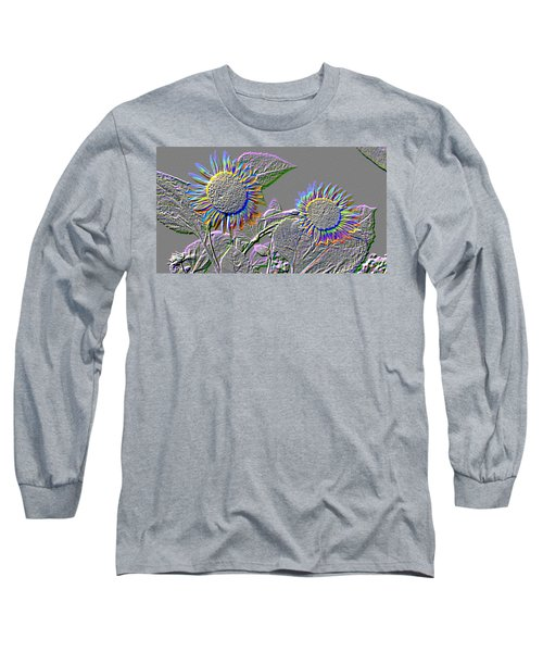 Rainbow Flower Long Sleeve T-Shirt by Tom Wurl