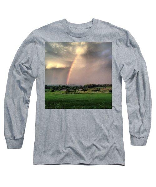 Rainbow Poured Down Long Sleeve T-Shirt