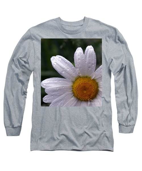 Rainy Day Daisy Long Sleeve T-Shirt by Kevin Fortier