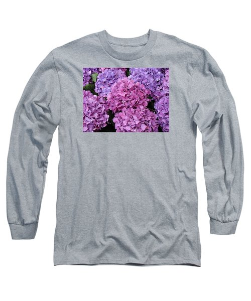Long Sleeve T-Shirt featuring the photograph Rainy Day Flowers by Ira Shander