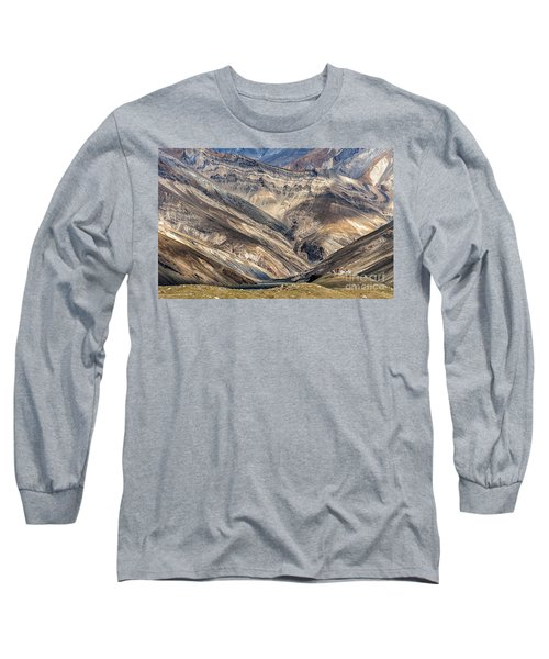 Long Sleeve T-Shirt featuring the photograph Rangdum Monastery, Rangdum, 2006 by Hitendra SINKAR