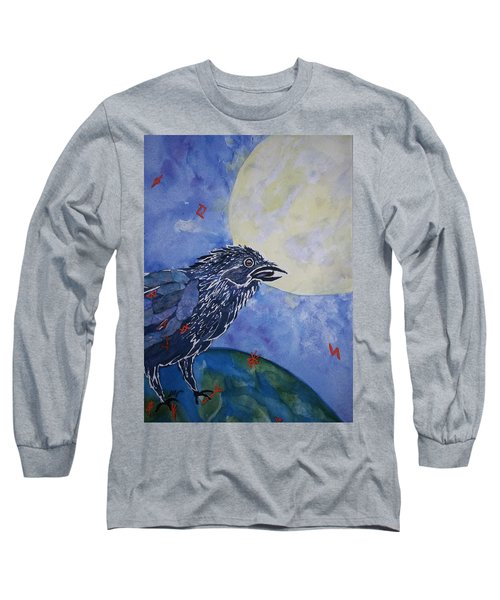 Raven Speak Long Sleeve T-Shirt by Ellen Levinson