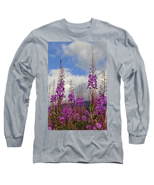 Long Sleeve T-Shirt featuring the photograph Reach For The Sky by Cathy Mahnke