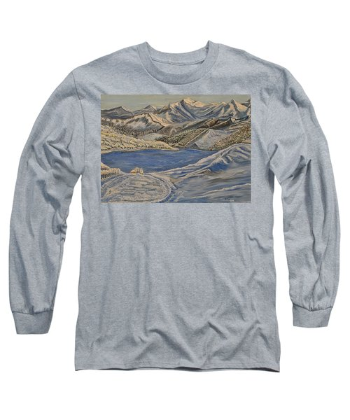 Reaching The Dream - Painting Long Sleeve T-Shirt by Felicia Tica