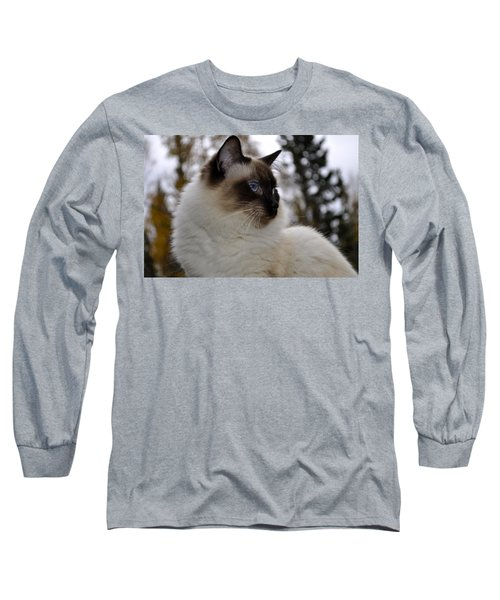 Ready For My Closeup Long Sleeve T-Shirt by Cathy Mahnke
