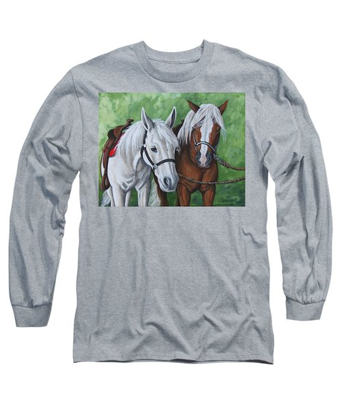Long Sleeve T-Shirt featuring the painting Ready To Ride by Penny Birch-Williams