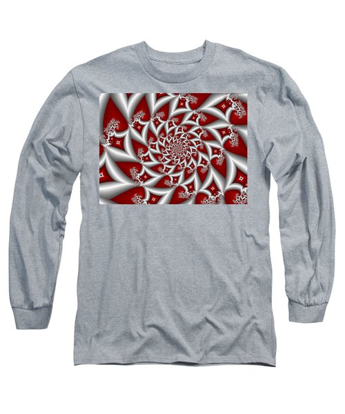 Red An Gray Long Sleeve T-Shirt