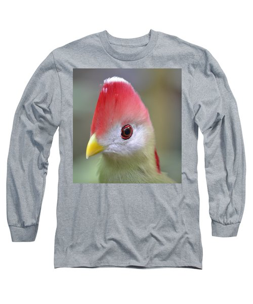 Red Crested Turaco Long Sleeve T-Shirt by Richard Bryce and Family