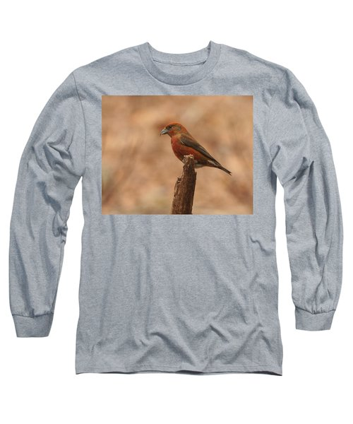 Red Crossbill Long Sleeve T-Shirt by Charles Owens