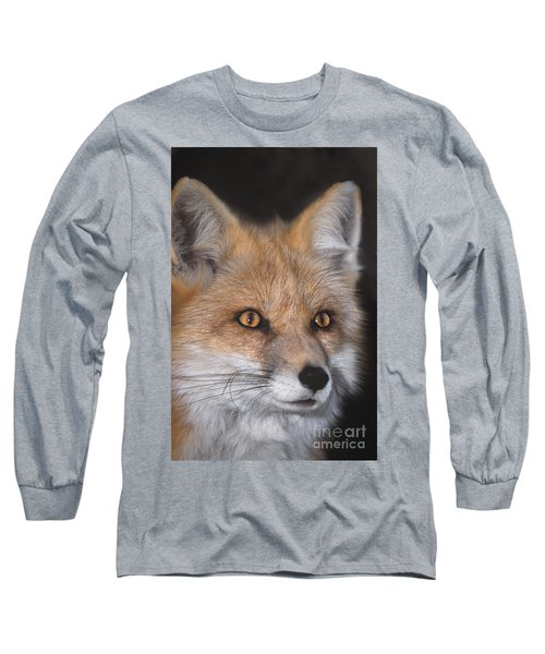 Red Fox Portrait Wildlife Rescue Long Sleeve T-Shirt