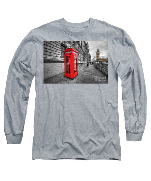 Red Phone Box And Big Ben Long Sleeve T-Shirt