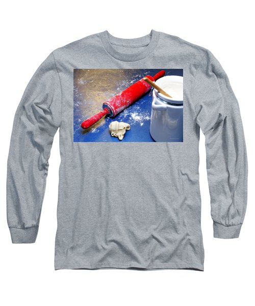 Red Rolling Pin Long Sleeve T-Shirt
