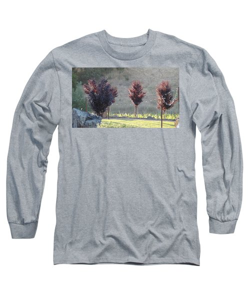 Long Sleeve T-Shirt featuring the photograph Red Tree's by Shawn Marlow