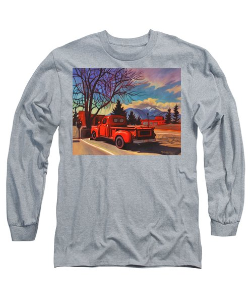 Red Truck Long Sleeve T-Shirt by Art James West
