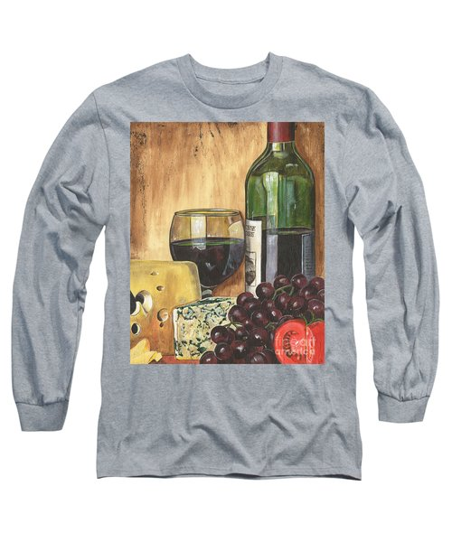 Red Wine And Cheese Long Sleeve T-Shirt