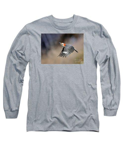 Redbelly Woodpecker Flight Long Sleeve T-Shirt