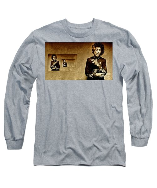 Reflecting On Jimi Hendrix  Long Sleeve T-Shirt