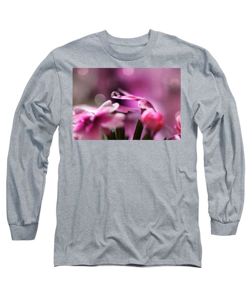 Reflecting On Pink Long Sleeve T-Shirt