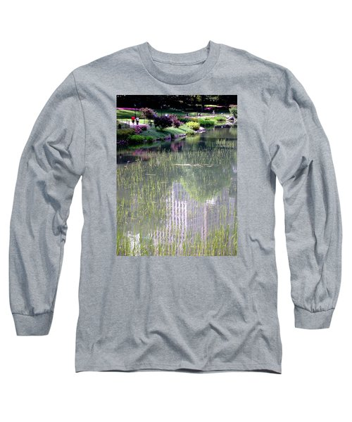 Reflection And Movement Long Sleeve T-Shirt by Menachem Ganon