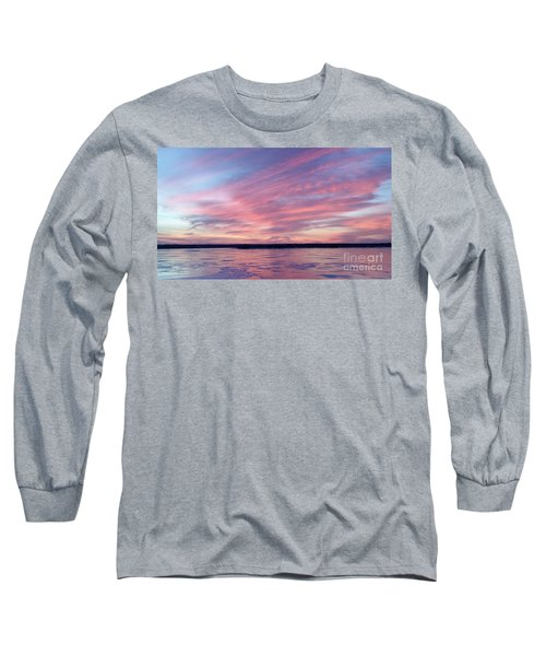 Reflections In Pink Long Sleeve T-Shirt by Caryl J Bohn