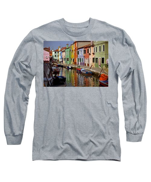 Reflections Of Burano Long Sleeve T-Shirt