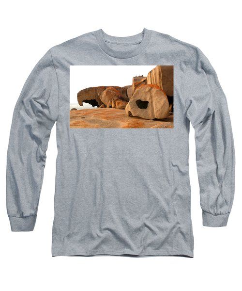 Long Sleeve T-Shirt featuring the photograph Remarkable Rocks by Evelyn Tambour