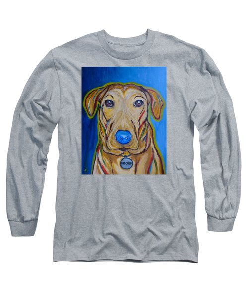 Long Sleeve T-Shirt featuring the painting Rescued by Victoria Lakes