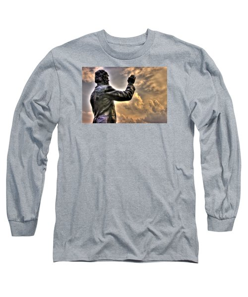Rev. Father William E. Corby C S C - Blessing The Troops Of The 88th New York Infantry Irish Brigade Long Sleeve T-Shirt by Michael Mazaika