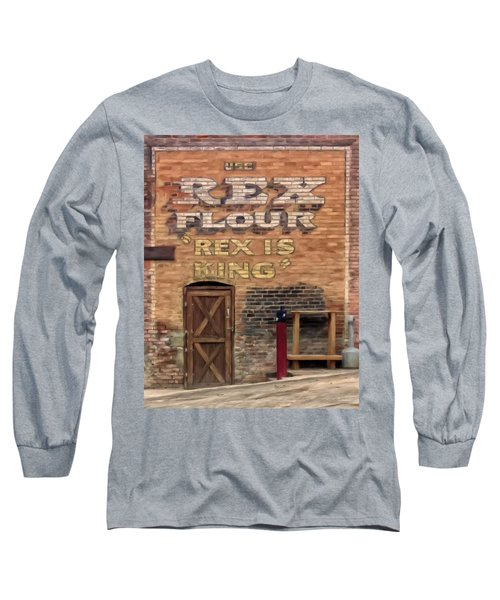 Long Sleeve T-Shirt featuring the painting Rex Is King by Michael Pickett