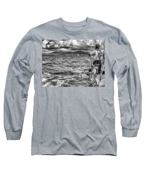 Long Sleeve T-Shirt featuring the photograph Riding The Crest Of The Wave by Howard Salmon