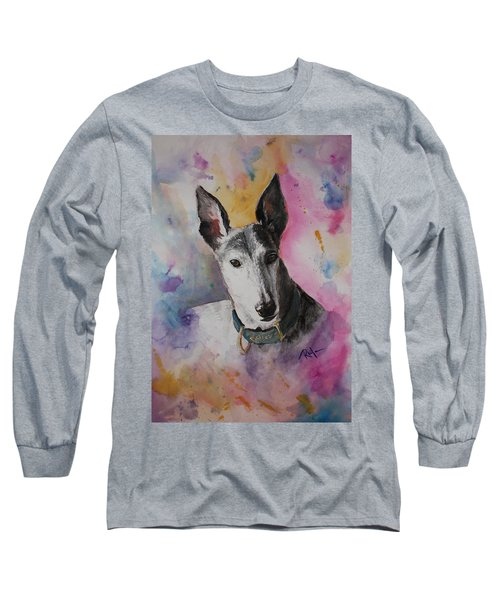 Long Sleeve T-Shirt featuring the painting Riding The Rainbow by Rachel Hames